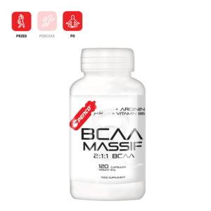 BCAA MASSIF 120 kapsułek mieszanki aminokwasów i witamin