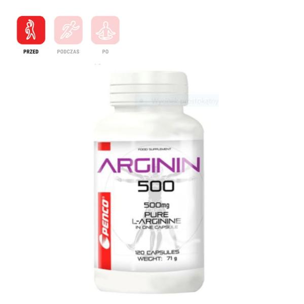 L-ARGININ 120 kapsułek czystej l-argininy dla sportowców
