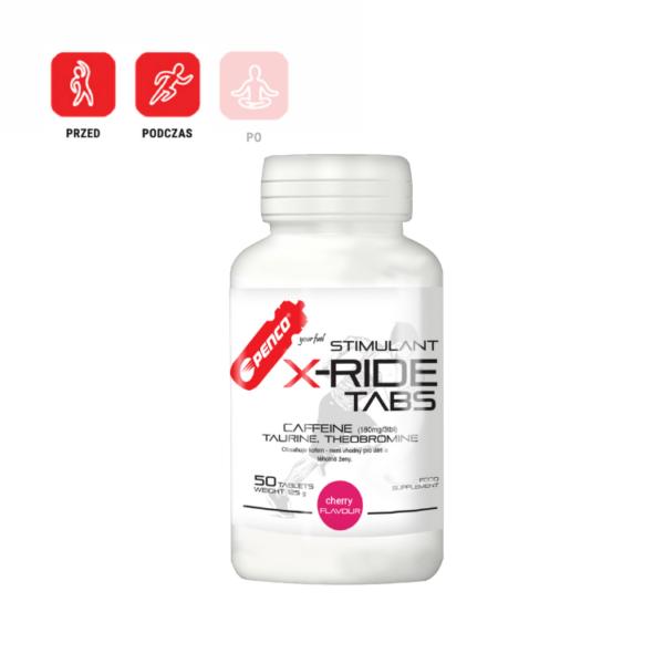 X-RIDE 50 tabletek z kofeiną i tauryną